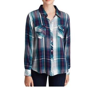 Rails casual button down plaid shirt SZ M